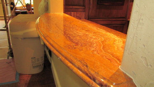 Polished Marble Bar top