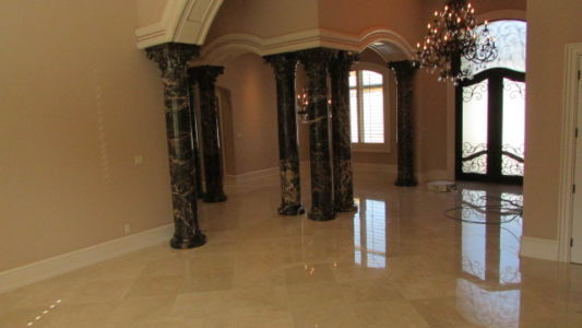 Entry Floor - Polished Marble