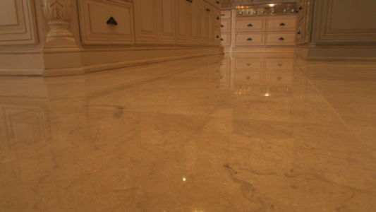 Polished Kitchen Floor - Marble
