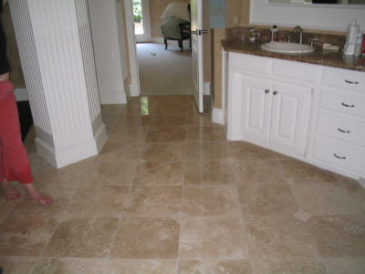 Bathroom Floor - Marble - Polish, Clean and Seal