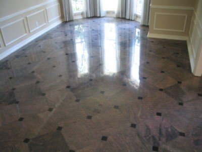 Marble Dining Floor - Polished