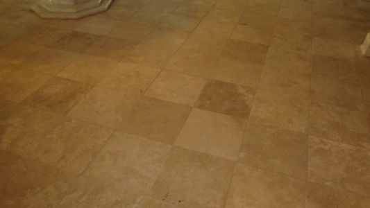 Honed Travertine Kitchen Floor