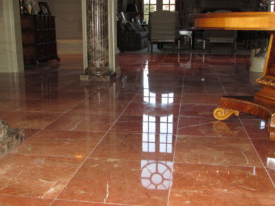 Rojo Marble Floor - Polished