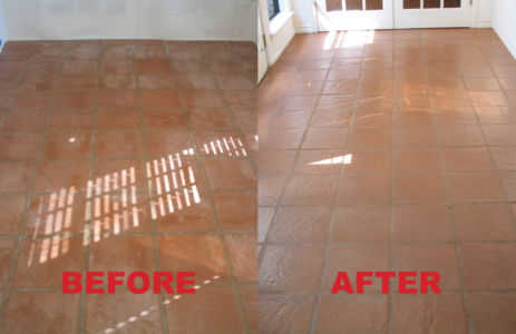 Saltillo Floor - Stripped and Sealed